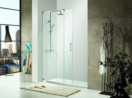0asbs48 P Premium 3 8 In 10 Mm Thick Clear Tempered Glass 48 In W X 72 In H Frameless Shower Sliding Shower Door Shower Doors Frameless Shower