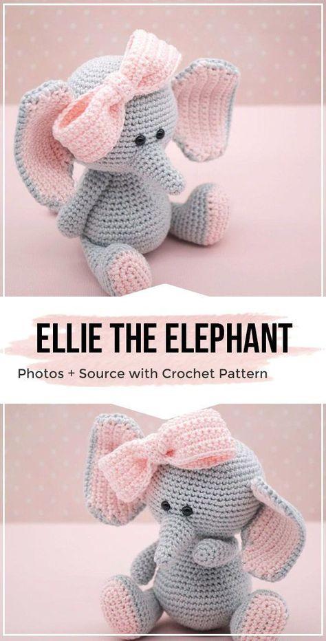 Crochet Ellie the elephant Amigurumi Pattern -  Ellie the elephant Amigurumi – Crochet Pattern – Share a Pattern #crochet #pattern #shareapatte - #Amigurumi #crochet #diybeauty #diycrafts #diygifts #diyhomedecor #diynol #diyorganization #diyprojects #elephant #Ellie #pattern