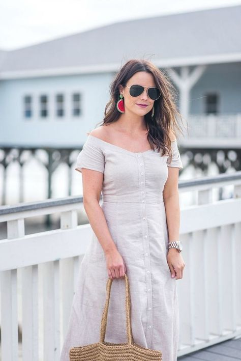 Casual Linen Dress | Fashion, Fashion tips for women, Chic