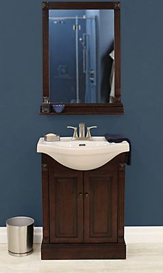 Foremost Salerno 25 Inch W Bath Vanity In Espresso With Mirror