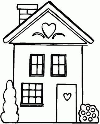 Patchcolagem Applique Casa Casa Para Colorir Casa De Desenhos