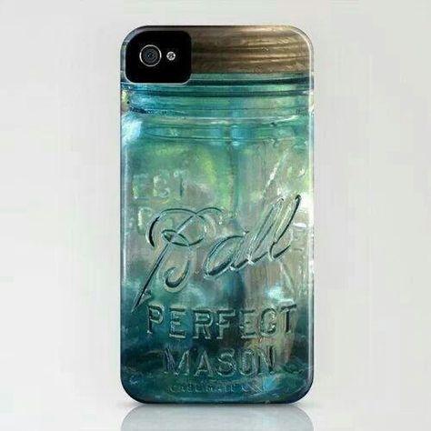 Mason jar phone case