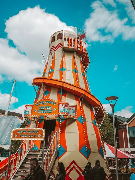 orange and blue helter skelter slide at the funfair in Bristol Bedroom Wall Collage, Photo Wall Collage, Teal Walls, Orange Walls, Aesthetic Room Decor, Aesthetic Collage, Orange Aesthetic, Retro Aesthetic, Polaroid Wall