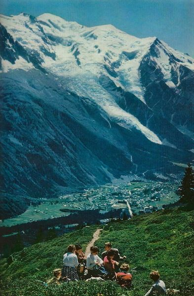 """vintagenatgeographic: """" The French town of Chamonix huddles in the narrow valley crushed between Mont Blanc and Le Brévent National Geographic National Geographic Photography, Tattoos Mandala, Chamonix Mont Blanc, Nature Photography, Travel Photography, Adventure Aesthetic, Rhone, Adventure Is Out There, Aesthetic Pictures"""