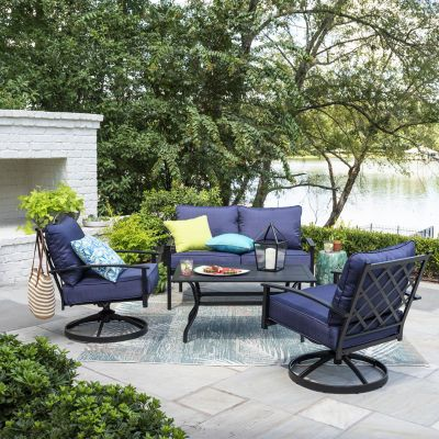 Buy Outdoor Oasis Santa Rosa 4 Pc Loveseat Conversation Set At Jcpenney Com Today And Get Your Penney S Worth Free Sh Patio Outdoor Oasis Outdoor Oasis Patio