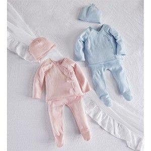 0-3 Months Mud Pie Boys Baby Newborn Blue A Initial Sleep Gown