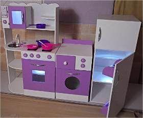 Juego Cocina Integral Infantil De Fibrofacil 10 800 00 Cocinas De Juguete Casa De Muñecas De Madera Casa De Muñecas Barbie