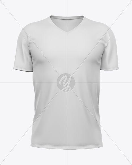 Download Men S V Neck T Shirt Mockup In Apparel Mockups On Yellow Images Object Mockups Shirt Mockup Tshirt Mockup Design Mockup Free