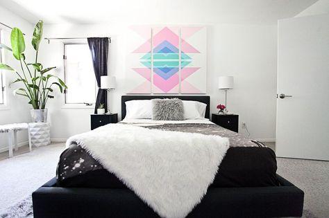 Luminoso y aireado dormitorio (antes + después)