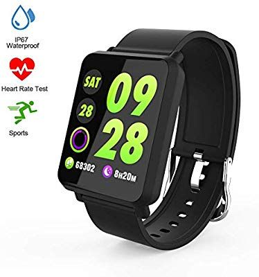 Amazon Com Fitness Tracker Smart Watch Activity Tracker With Heart Rate Monitor Color Screen Fitness Watch With Sleep Monitor Bloo Fitness Watch Smart Watch Fitness Tracker