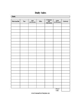 Daily Sales Log Template Sales Report Template Business Printables Sales Template