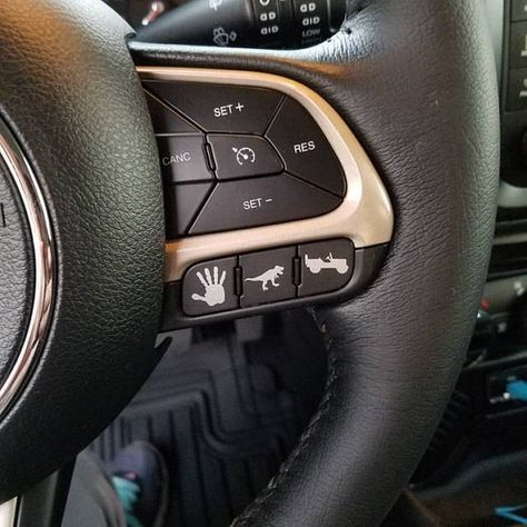 Jeep Renegade OR any Vehicle Blank Button Dash Steering Wheel | Etsy