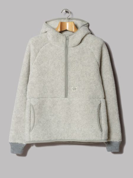 Snow Peak Wool Fleece Pullover (Oatmeal) | open toes open mind ...