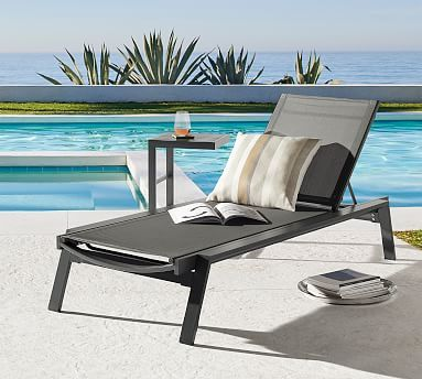 Indio Metal Stackable Chaise Lounge Set Of 2 Slate In 2020 Chaise Lounge Outdoor Chaise Lounge Outdoor Furniture Fabric