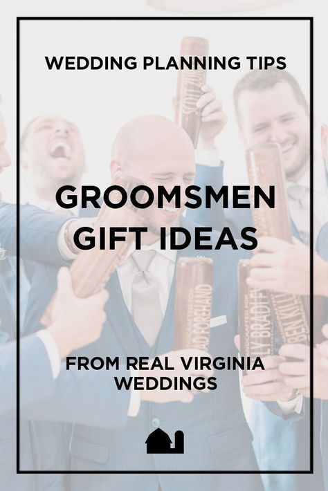 Fun, unique groomsmen gift ideas (many non-alcoholic) for any budget, based on real weddings at 48 Fields in Northern Virginia. #groomsmengifts #groomsmen #weddingplanning #weddingadvice #weddingtips #weddingparty #weddingpartygifts