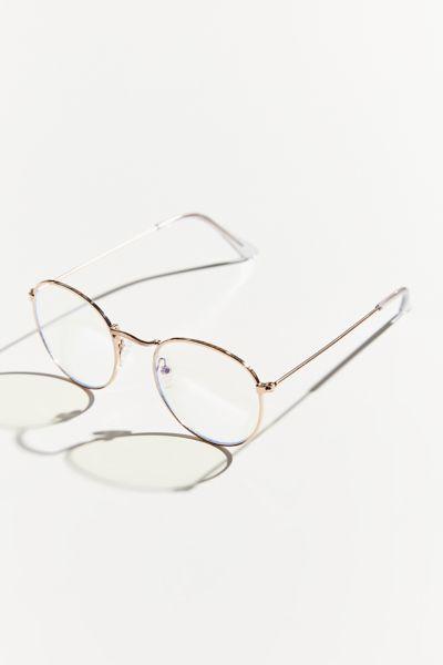 Taylor Blue Light Round Glasses Glasses Light Blue Womens Glasses
