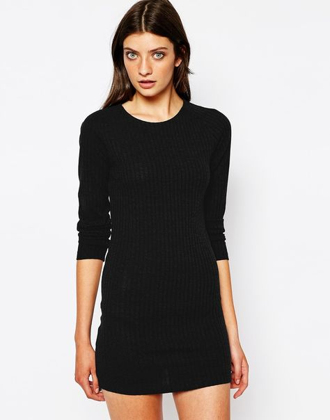 Mango Ribbed Jumper Dress With Raglan Sleeves | Jumper dress