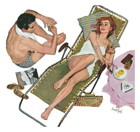 Kurt Ard - Illustration for the story Willing Victim by Robert Carson. From The Saturday Evening Post – Pin Up Girls Pin Up Vintage, Art Vintage, Retro Art, Comics Vintage, Vintage Cartoon, Vintage Posters, Art Posters, Gil Elvgren, Magazine Illustration