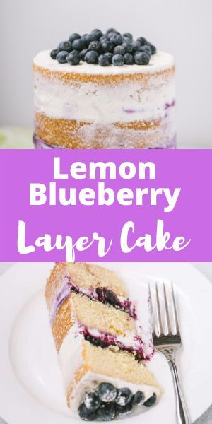 Lemon Cake Blueberry Frosting
