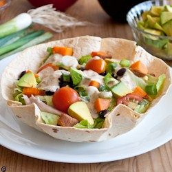 Taco Salad   Skinny Chipotle Ranch