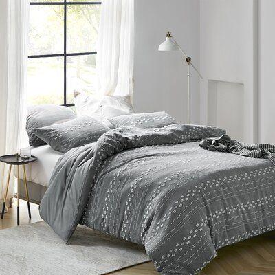Union Rustic Shick Textured Comforter Set Wayfair In 2020 Comforter Sets Twin Xl Comforter Textured Bedding