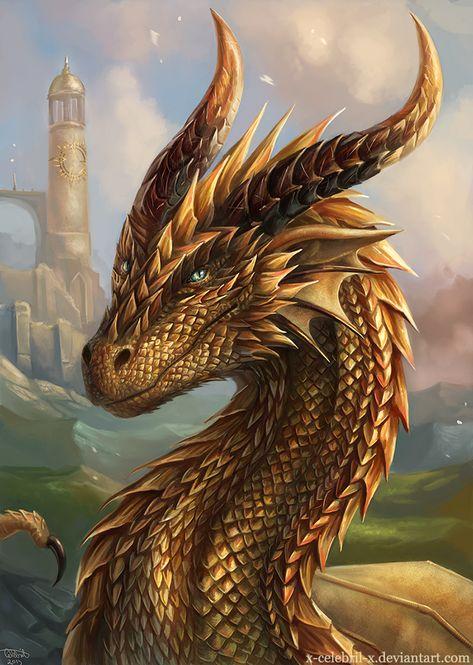 Sun Dragon Commission by x-Celebril-x on DeviantArt