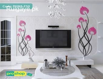 Flicker Creative Flower Acrylic Wall Stickers Living Room Tv Background Wall Sticker Home Diy Self A Wall Stickers Living Room Wall Stickers Home Wall Stickers
