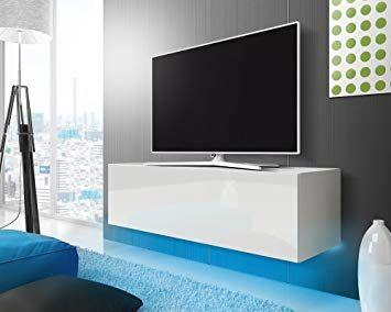 Lana – Fernsehschrank/TV-Lowboard mit LED Modern Hängend 140 ...
