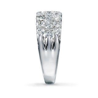 Leo Diamonds 2 Ct Tw Anniversary Band 14k White Gold Kay Outlet Leo Diamond Engagement Ring Diamond Shape Earrings Leo Diamond