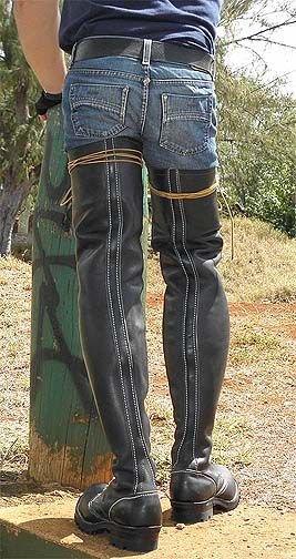 Rear View Is Almost As Hot As The Front On These All The Way Up The Leg Wesco Big Jobmasters May 18 Mens Leather Boots Leather Denim Mens High Boots