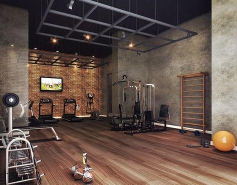 54 Ideas Home Gym Industrial Workout Rooms Dengan Gambar