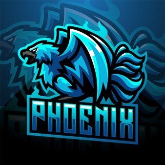 Design De Logotipo Azul Mascote Esport Phoenix Design De Logotipo Modelos De Logotipo Logotipo Do Jogo