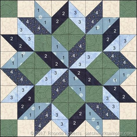 Billedresultat for carpenter's star quilt pattern king size Learn how to simplify the construction of this beautiful quilt block. No directions, just the picture. Big Block Quilts, Star Quilt Blocks, Star Quilts, 24 Blocks, Barn Quilt Designs, Barn Quilt Patterns, Quilting Designs, Crochet Quilt Pattern, Quilt Square Patterns