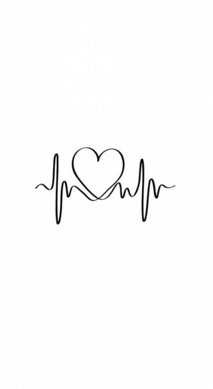 Best Tattoo Heart Beat Heartbeat Tatoo Ideas Iphone Background Wallpaper Quotes Small Tattoos Simple