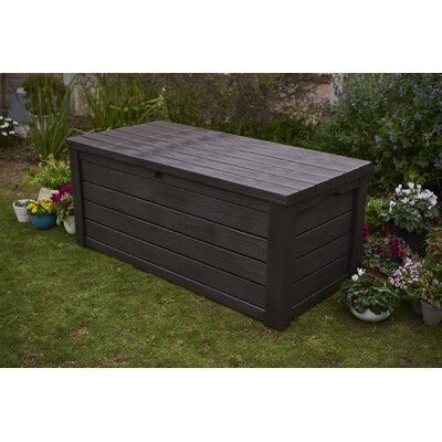 Sol 72 Outdoor Yancy 150 Gallon Resin Deck Box Wayfair Patio Storage Deck Box Storage Resin Deck Box