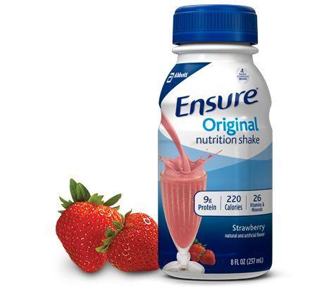 Ensure Original Strawberry Nutrition Shake Drink Ensure