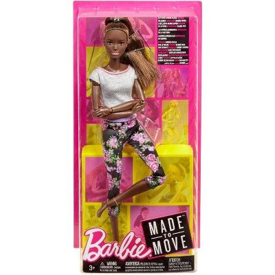 Barbie Made To Move Yoga Nikki Doll In 2020 Barbie Fashionista Dolls Made To Move Barbie Barbie