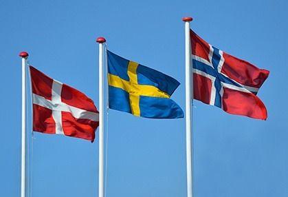 Flags Of Denmark Norway And Sweden Scandinavia Visit Denmark Scandinavian