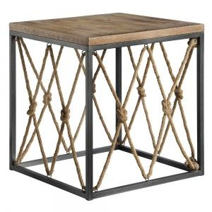 Pin By Belle Escape On New Furniture Decor Arrivals Rustic Wood Wood And Metal Wood End Tables