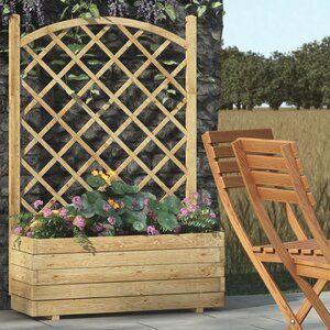 Alpen Home Alysa Wooden Planter Box With Trellis Planter Box With Trellis Wooden Planters Wooden Planter Boxes