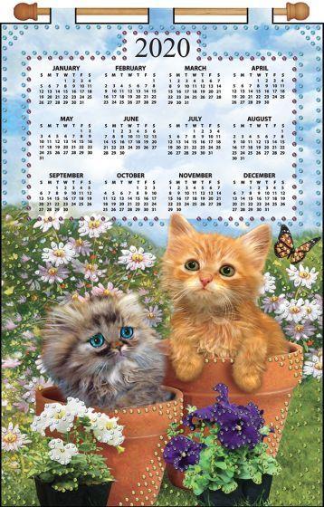 Printable Calendar 2020 Kitten December Garden Kittens 2020 Felt Calendar | Felt Calendars | Calendar