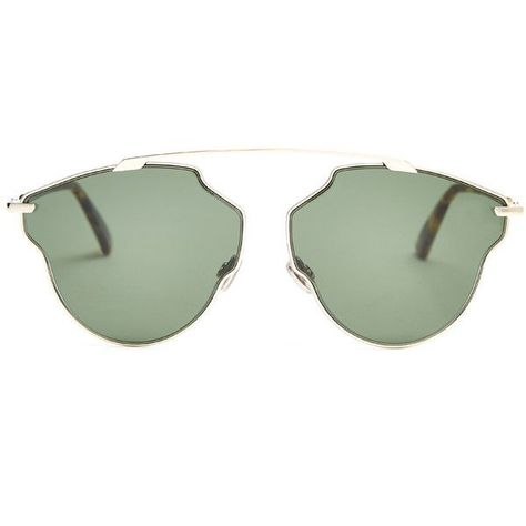 2478efcb7b7c Dior So Real Pop aviator sunglasses ($410) ❤ liked on Polyvore featuring  accessories, eyewear, sunglasses, glasses, green, sunnies, christian dior,  ...