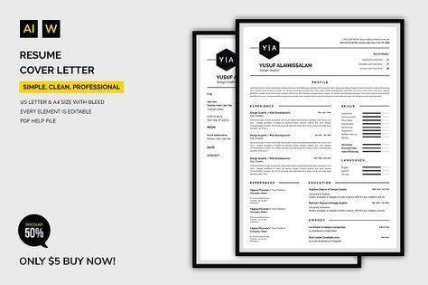 Resume Template CV Template @creativework247 Resume Templates - resume copy
