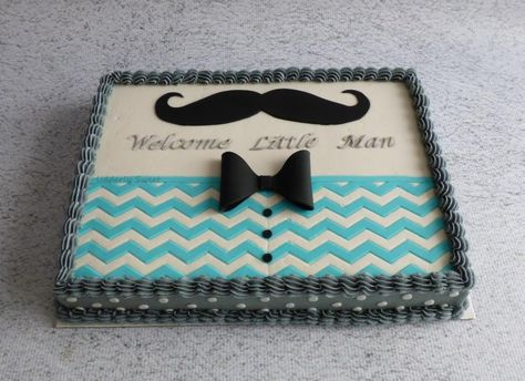 Mustache Baby Shower Cake - Cake by Michelle                                                                                                                                                                                 More