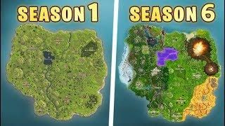 Evolution Of The Entire Fortnite Map Season 1 To Season 5 Update