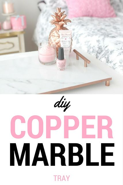 Copper Marble Tray DIY Tutorial//decor//gifts// | From The Elle Sees Blog |  Pinterest | Marble Tray, DIY Tutorial And Marbles