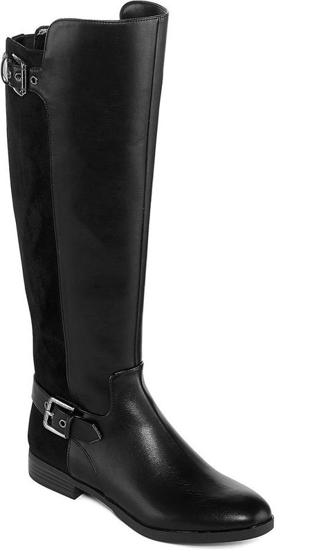 97272836bfd Liz Claiborne Dallas Womens Riding Boots Wide Calf