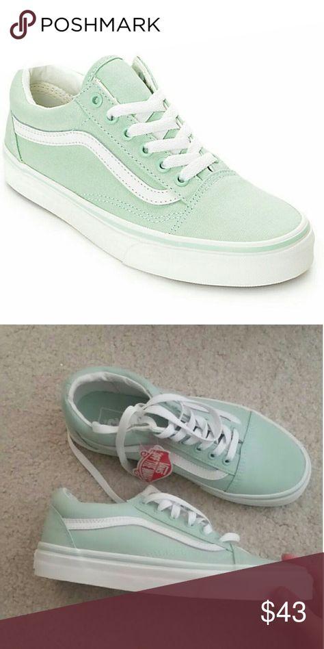 e7d20d9cb34 Vans old skool pastel mint green Womens 7 mens 5.5 Brand New never worn Vans  Shoes Sneakers