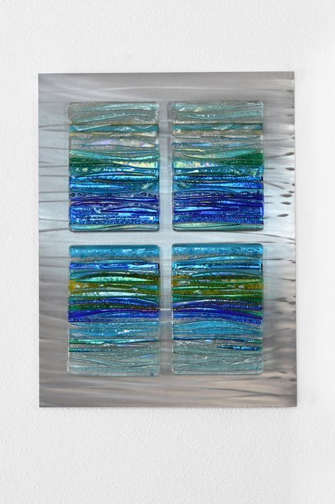 Perfect Peace Fused Glass Wall Art Fused Glass Panel Glass Art