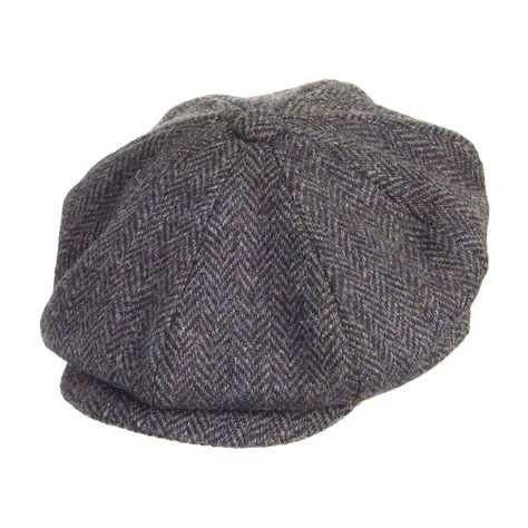 904318dce6e Failsworth Hats Harris Tweed Newsboy Cap - Grey Mix in 2019